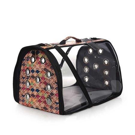 Lepus Şeffaf Fly Bag Kedi Köpek Taşıma Çantası Petek Medium