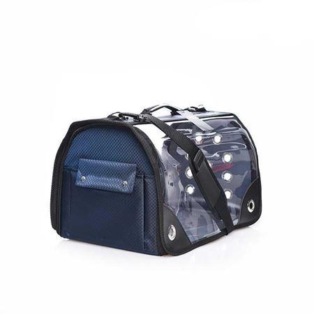 Lepus Şeffaf Fly Bag Kedi Köpek Taşıma Çantası Lacivert Large