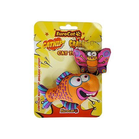 EuroCat Kedi Oyuncağı Kelebekli Turuncu Balık 21 Cm