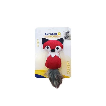EuroCat Kedi Oyuncağı Kırmızı Sincap 14 Cm