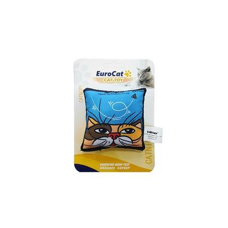 EuroCat Kedi Oyuncağı Mavi Yastık 8 Cm