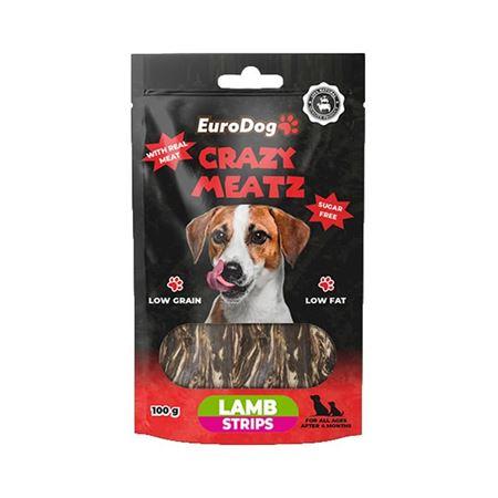 EuroDog Lamb Strips Köpek Ödülü 100 Gr