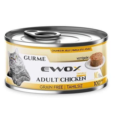 Ewox Gurme Tavuklu Tahılsız Kedi Konservesi 100 Gr