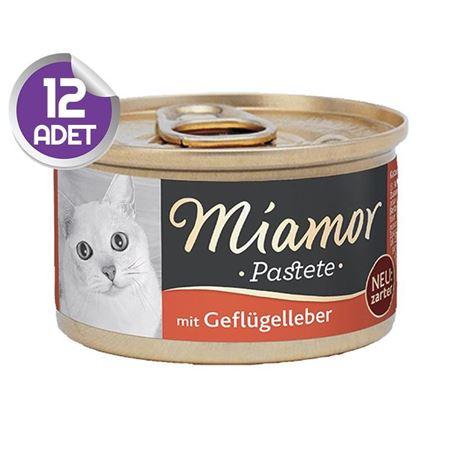 Miamor Pastete Ciğerli Yetişkin Kedi Konservesi 85gr x12
